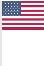 CLOTH US ANTENNA FLAG
