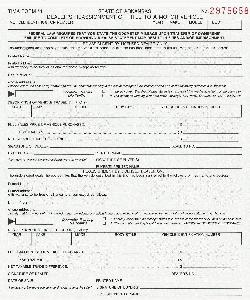 ARKANSAS TIMA 1 FORM - REASSIGNMENT OF TITLE