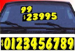 WINDSHIELD NUMBERS