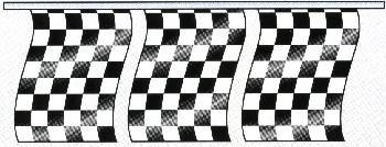 RACE STYLE CHECKER PENNANTS