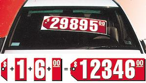 RED TAG SALE PRICER NUMBERS